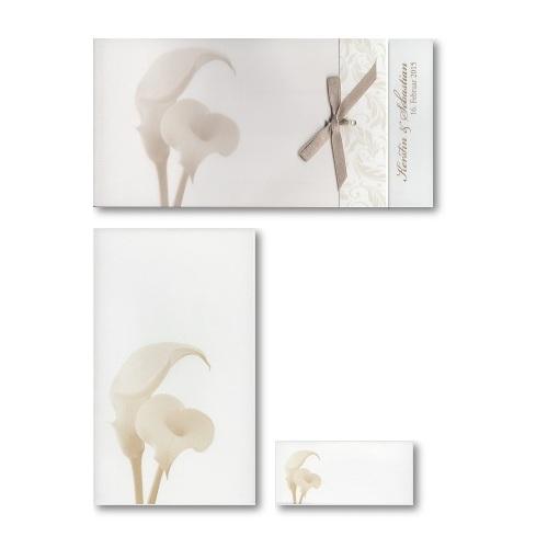 Hochzeitskarten Serie mit Calla