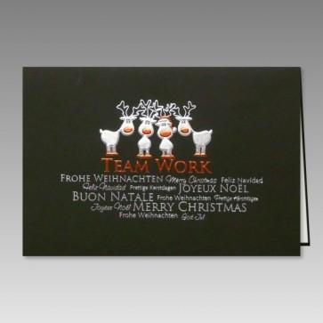 lustige weihnachtskarte mit rentier comic mehrsprachig. Black Bedroom Furniture Sets. Home Design Ideas