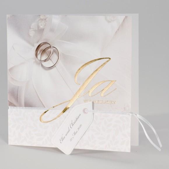 Günstige Hochzeitskarte Mit Ja, Wir Heiraten