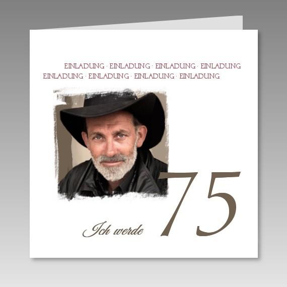 Home Geburtstag Geburtstagseinladungen Mit Foto zum 75. - 3451216-75