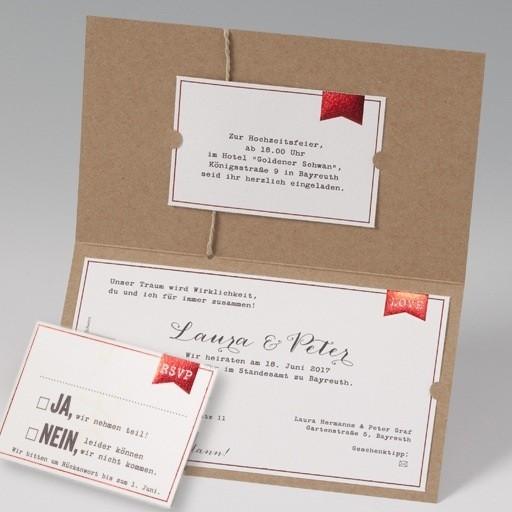 Einladung zur hochzeit im luftpost design - Hochzeitseinladung text modern ...