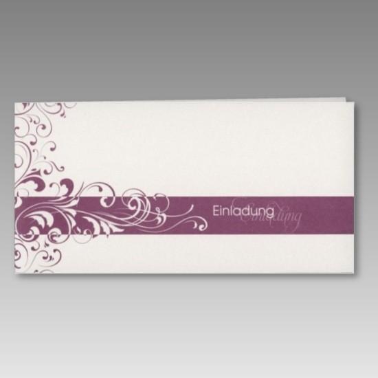 Günstige Einladungskarte in neutralem Design