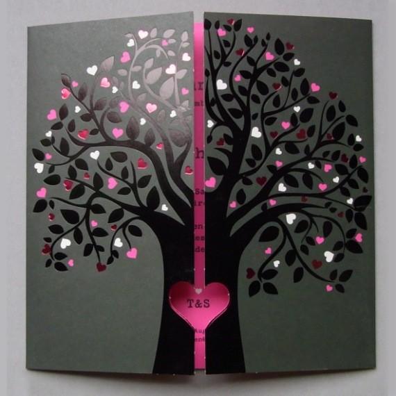 Home Hochzeit Hochzeitseinladungen Ihr Baum der Liebe - 726028