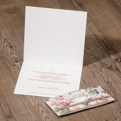 Home Hochzeit Hochzeitseinladungen Blumige Banderole - 726040