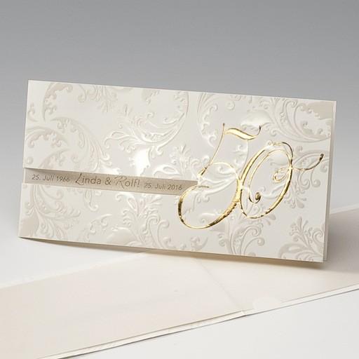 edle einladungskarte zu ihrer goldenen hochzeit. Black Bedroom Furniture Sets. Home Design Ideas