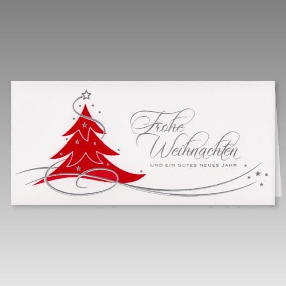 moderne weihnachtskarte in wei mit rotem weihnachtsbaum. Black Bedroom Furniture Sets. Home Design Ideas