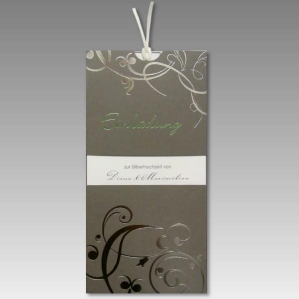 Schön Einladung Zur Silbernen Hochzeit Mit Stil