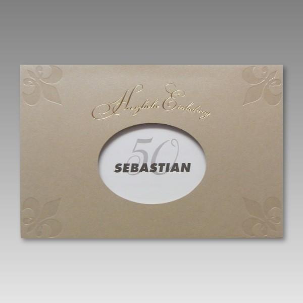 attraktive einladung zum 50. geburtstag mit günstigen preis, Einladungsentwurf