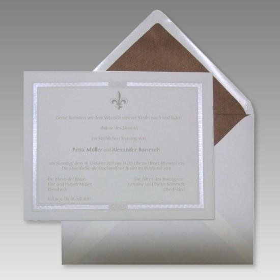 königliche einladungskarte hochzeit im edlen design, Einladungsentwurf