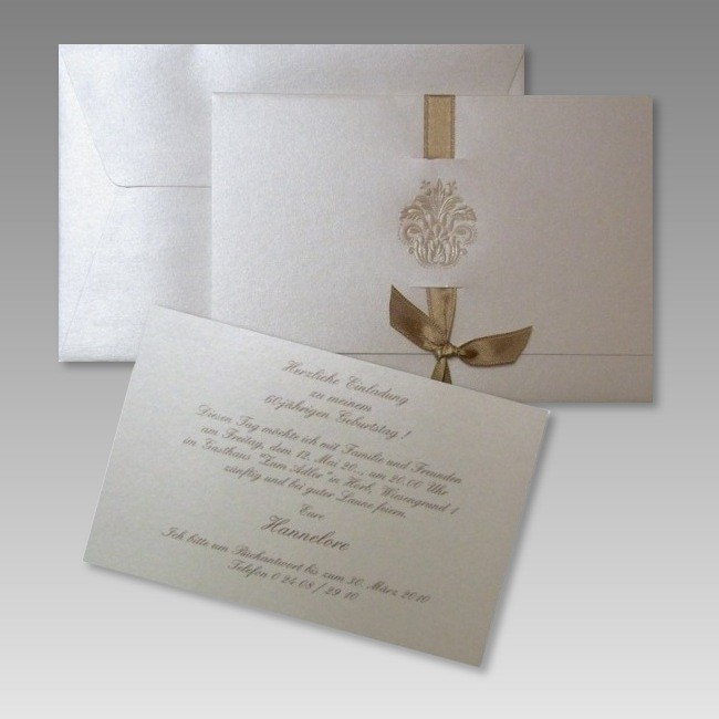 Vornehme Geburtstagseinladung, Mehrteilig, Einladungsentwurf