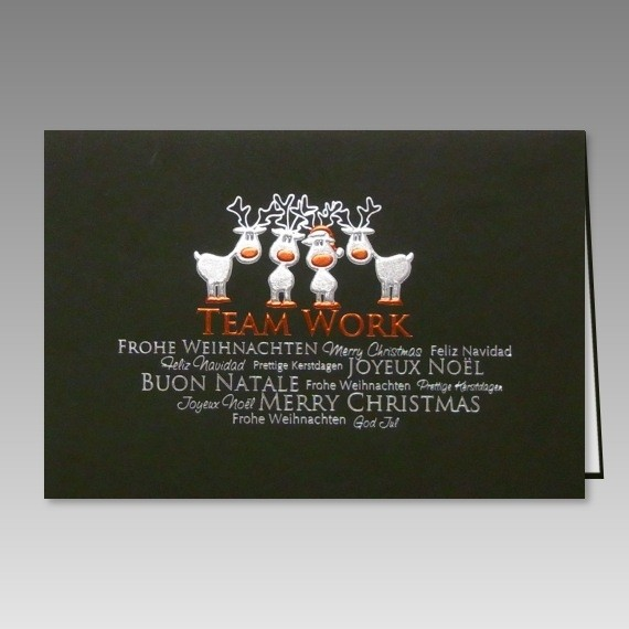 Lustige weihnachtskarte mit rentier comic mehrsprachig - Weihnachtskarten text lustig ...