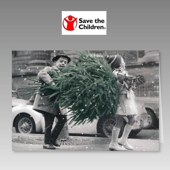 nostalgische weihnachtskarte mit spende f r save the children. Black Bedroom Furniture Sets. Home Design Ideas