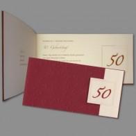 """edle einladung zum geburtstag """"50 - na und!"""", Einladungen"""