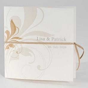 Schicke Einladungskarte zur Hochzeit mit Ornamenten