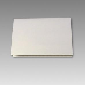Blanko Klappkarte in weißmetallic