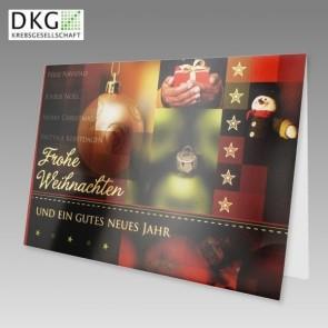 Spenden Weihnachtskarte in klassischen Farben Deutsche Krebsgesellschaft