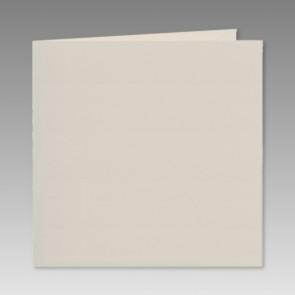 Quadratische Klappkarte, glitzerweiss