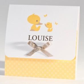 Babykarte mit gelben Enten