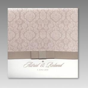 Hochzeitseinladung mit Perlensticker
