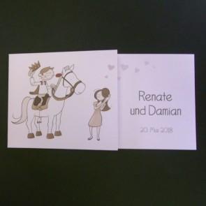 Hochzeitseinladung mit Pferdemotiv