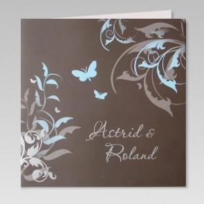 Geschmackvolle Einladung zur Hochzeit, Schmetterlinge