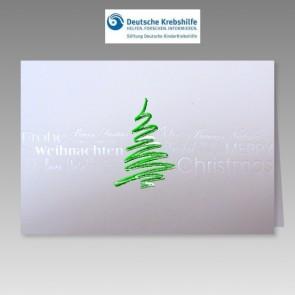 Stilvolle Weihnachtskarte mit Spende an Deutsche Kinderkrebshilfe