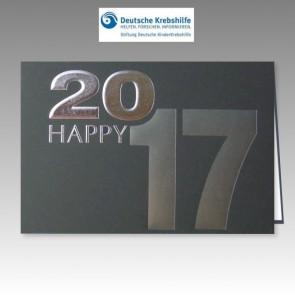 Geschmackvolle Neujahrskarte 2017 mit Spende für Deutsche Kinderkrebshilfe
