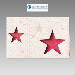 Spendenkarte Kinderkrebshilfe in klassischem Design