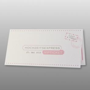 Hochzeitseinladung als VIP-Ticket