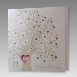 Einladung zur Hochzeit mit Liebesbaum