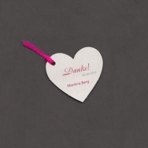 Dankeanhänger zur Konfimation oder Kommunion als Herz