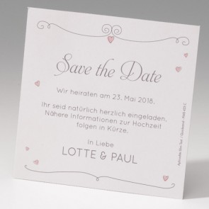 Lustige Save the date Karte Hochzeit