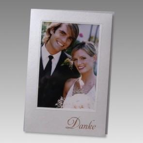 Elegante Danksagungskarte Hochzeit für eigenes Foto