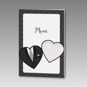 Stilvolle Hochzeitsmenükarte im schicken Design