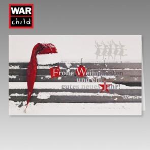 War Child Weihnachtskarte mit Spendenhinweis mit Elchen