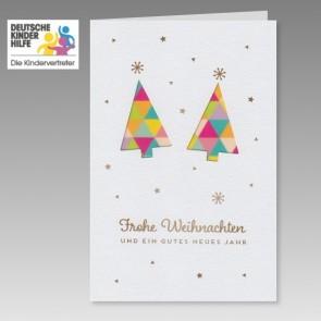 Moderne Spenden Weihnachtskarte für die Deutsche Kinderhilfe