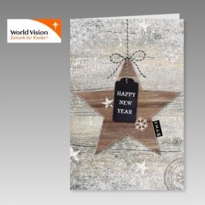 Neujahrskarte mit Spende für World Vision
