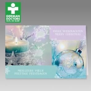 Internationale Weihnachtskarte mit Spende German Doctors