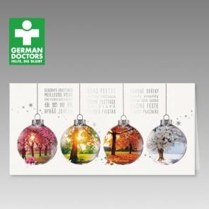 Spendenkarte zu Weihnachten mit den 4 Jahreszeiten
