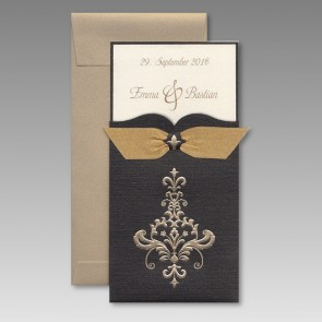 Feine Einladungskarte Zur Goldenen Hochzeit