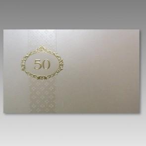 Einladung zur Goldenen Hochzeit mit 50