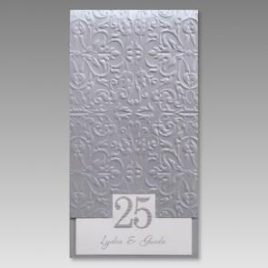 Einladungskarte Silberhochzeit, hochwertig