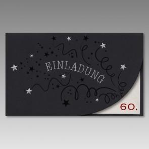 Einladungskarte 60. Geburtstag, Jugendlich