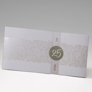 Einladungskarte Silberhochzeitim eleganten Design