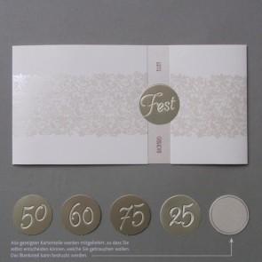 Universelle Einladungskarte für jedes Fest im eleganten Design