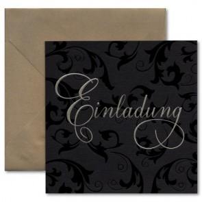 einladungskarten goldene hochzeit: mit und ohne textdruck, Einladungsentwurf