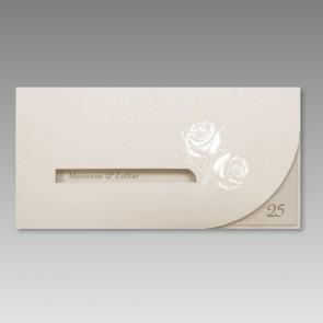 Silberhochzeit Einladung mit Rosen