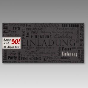 Schöne Einladungskarte zum 50. Geburtstag