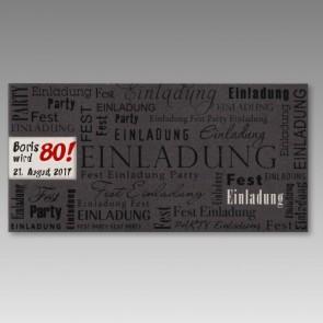 Schöne Einladungskarte zum 80. Geburtstag