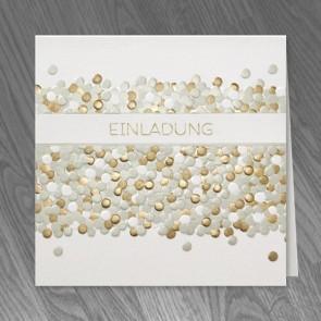 Einladungskarte Goldhochzeit mit Stil